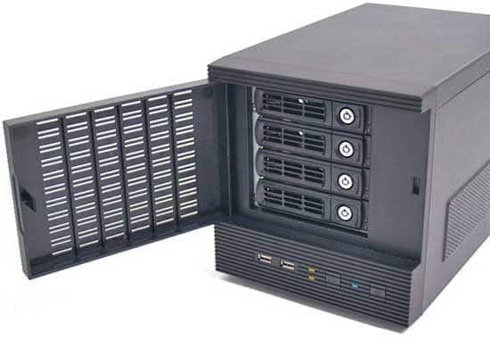 Tiny Server XEON E3-1220V3, 8G, 1T X2 Hot Swap*4
