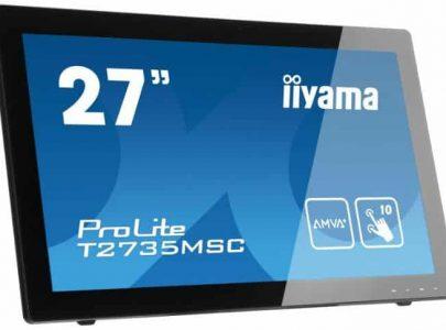 "IIYAMA Monitor 27"" AMVA PCap Touch Panel 5ms VGA DVI HDMI (MHL) Speakers  מסך מגע - IIYAMA"