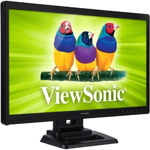 "מסך מגע TD2420 Viewsonic 24"" Multi-Touch 1920x1080  DVI/VGA/HDMI Speaker - ViewSonic"