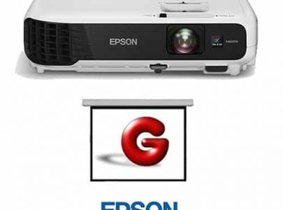 מקרן נייד EPSON דגם EB-S04 למצגות במשרד וקולנוע ביתי איכותי - EPSON