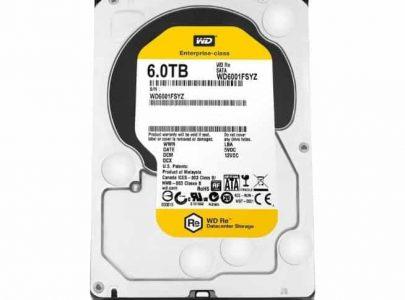 כונן קשיח Western Digital Gold 6TB 128MB Sata III WD6002FRYZ