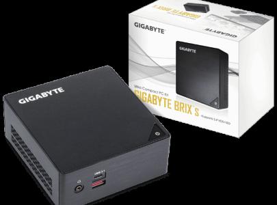 """מחשב ג""""יגהבייט קטן וסטרימר ללא זכרון ואחסון Gigabyte BRIX GB-BKi7HA-7500 Intel Core i7-7500U 3.50GHz No HDD No Memory Free Dos - GIGABYTE"""