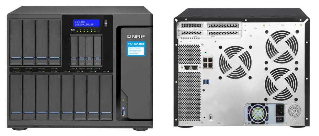 QNAP TS-1685-D1521-16G High-capacity 16-bay Xeon D Super NAS with  exceptional performance
